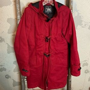 Flash sale Spiewak & sons red toggle parka S GUC